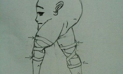 膝を守るテーピング